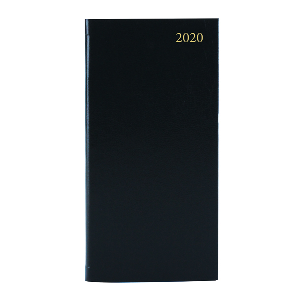 Slim Diary Landscape Week to View Appointment 2020 Black KFHBK20