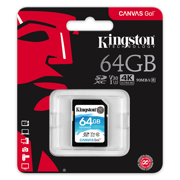 Kingston Go 64GB SDXC Cards SDG/64GB