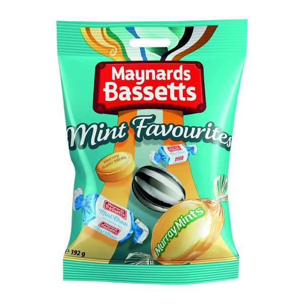 Maynard Bassetts Mint Favourites 192g (Pack of 12) 4021645