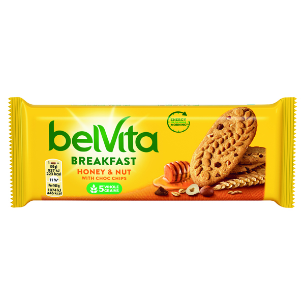 Belvita Breakfast 50g Honey Nut (Pack of 20) 665183