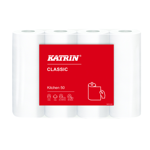 Katrin Classic Kitchen Roll 2-Ply (Pack of 28) 231608
