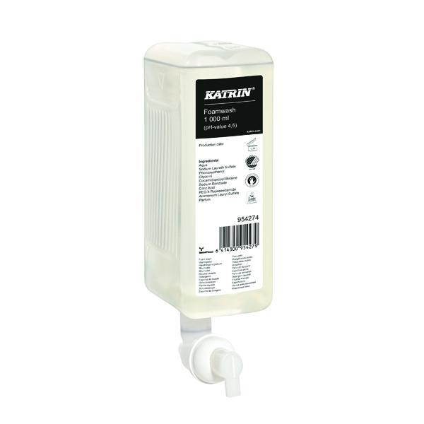Katrin Classic Foam Wash Soap 1000ml (Pack of 6) 954274