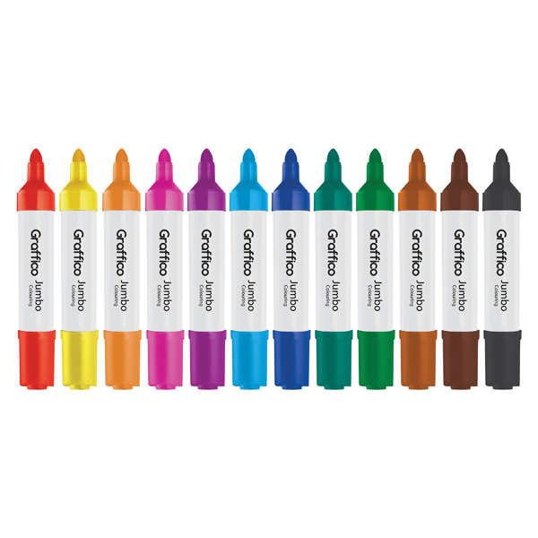 Graffico Jumbo Marker Assorted (Pack of 48) 6190/48