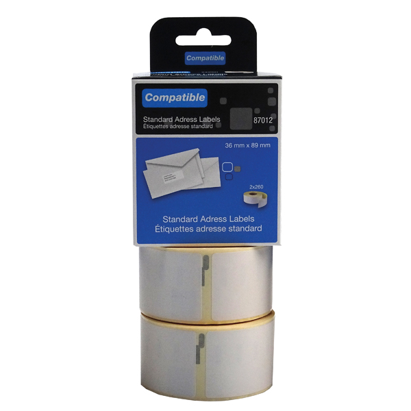 Compatible DYMO Large Address Label 36 x 89mm (Pack of 520) LL87012