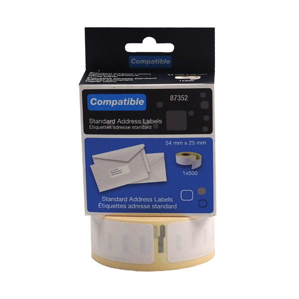 Compatible DYMO Return Address Label 54 x 25mm (Pack of 500) LL87352