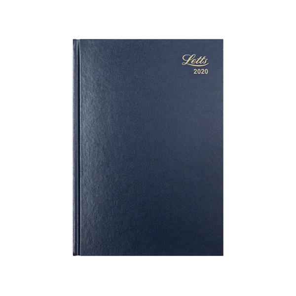 Letts Business Diary A5 Day Per Page 2020 Blue 20-T11XBL