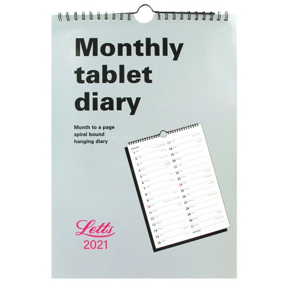 Letts Monthly Tablet Calendar 2021 21-TMT