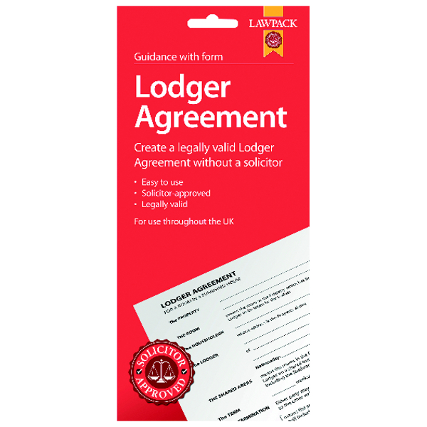 Law Pack Lodger Agreement UK (Pack of 5) F333