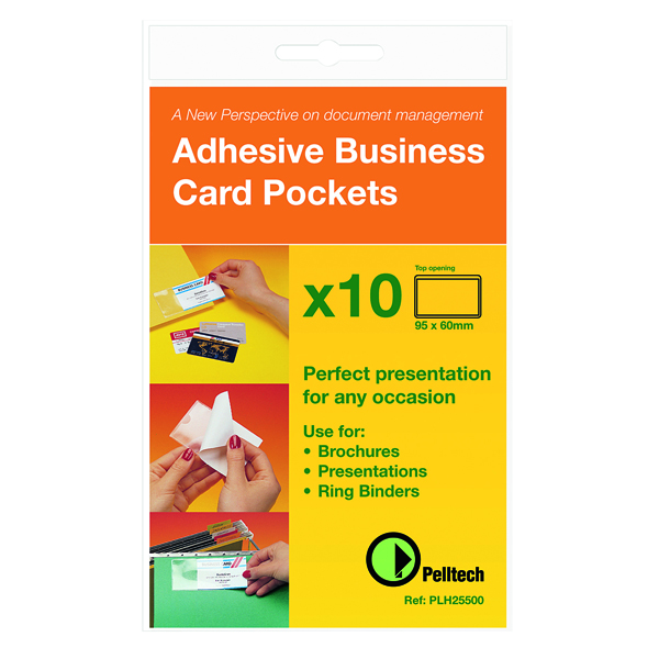 Pelltech Business Card Holder Side Opening 60x95mm (Pack of 10) PLH 25510