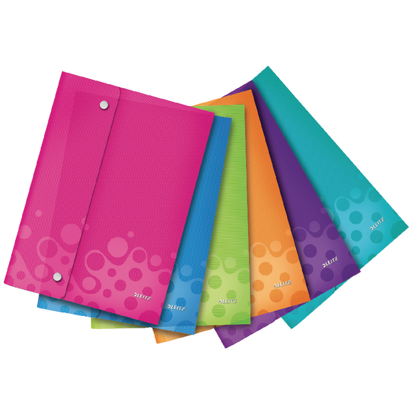 Leitz WOW Wallet Folder Polypropylene A4 Assorted (Pack of 6) 44690099