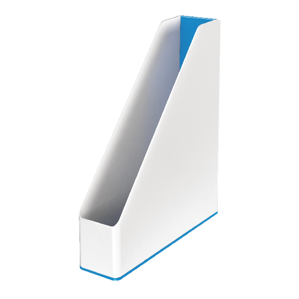 Leitz WOW Magazine File Dual Colour White/Blue 53621036