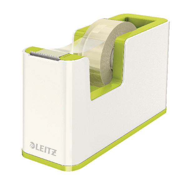 Leitz WOW Tape Dispenser Dual Colour White/Green 53641064