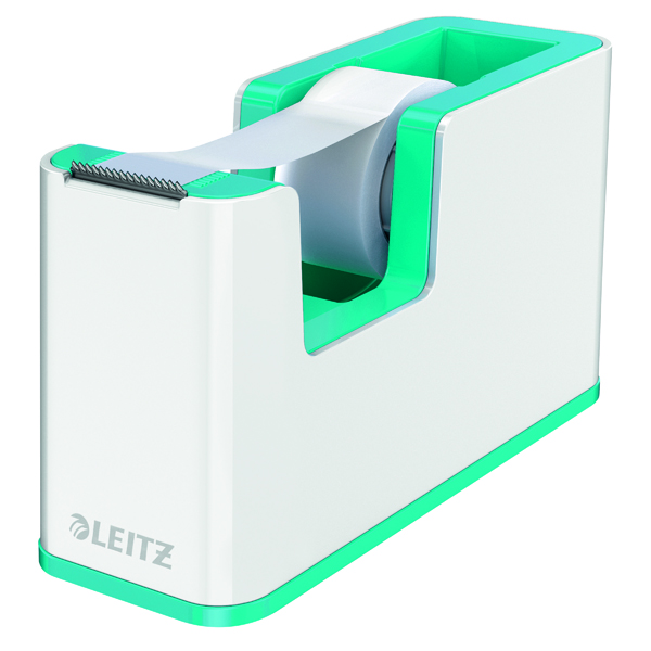 Leitz WOW Tape Dispenser Dual Colour White/Ice Blue 53641051
