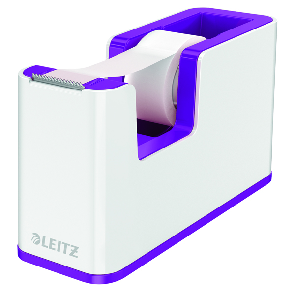 Leitz WOW Tape Dispenser Dual Colour White/Purple 53641062