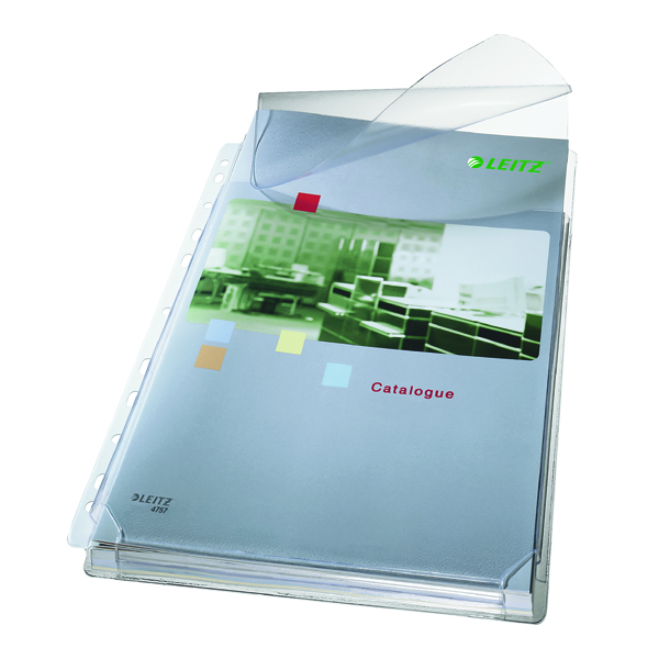 Leitz Expanding Pocket With Flap A4 Clear (Pack of 5) 47573003