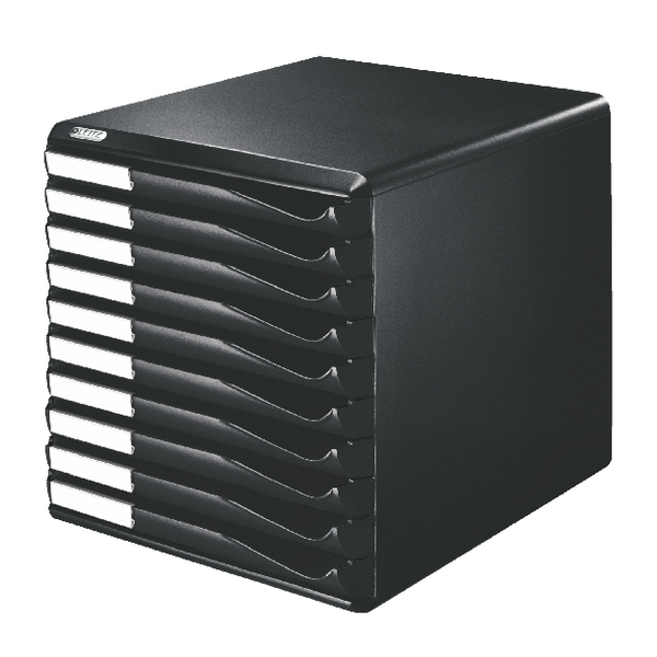 Leitz 10 Drawer Form Set Black 5294-0095