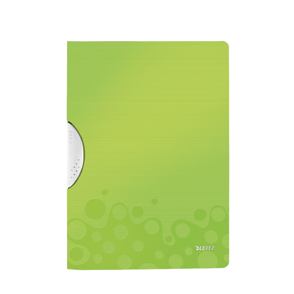 Leitz WOW ColorClip Poly File A4 Green Metallic (Pack of 10) 41850064
