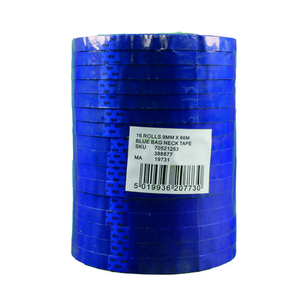 Polypropylene Tape 9mmx66m Blue (Pack of 16) 70521253
