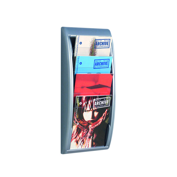 Fast Paper Quick Fit System Wall Display 4 x A4 Silver 4061.35