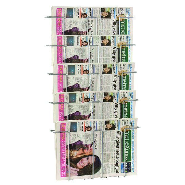 Twinco Silver A3 5 Compartment Literature Holder (Wall mountable) TW51908