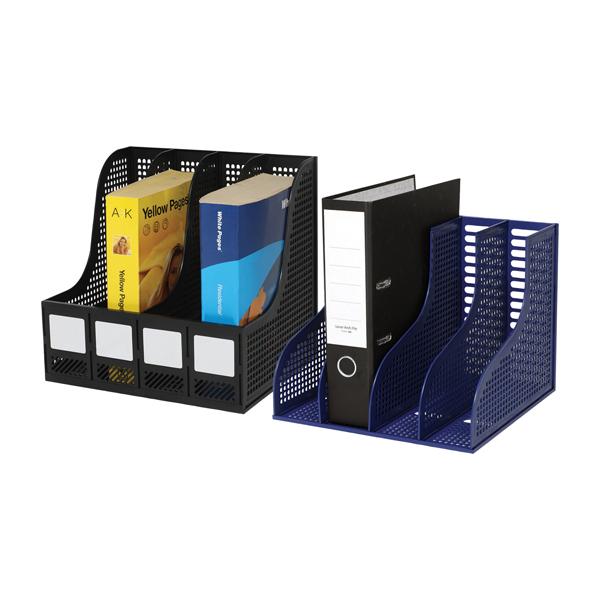 Arnos Magazine Storage Rack Black E147
