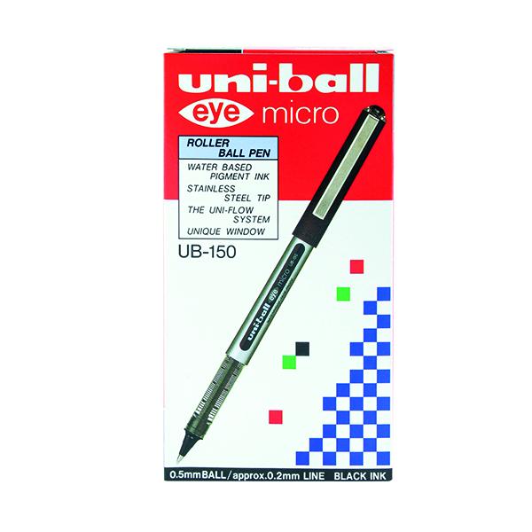 Uni-Ball UB-150 Eye Rollerball Pen Fine Black (Pack of 12) 9000500