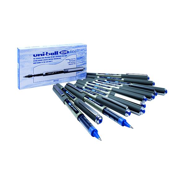 Uni-Ball UB-157 Eye Rollerball Pen Medium Blue (Pack of 12) 9000701