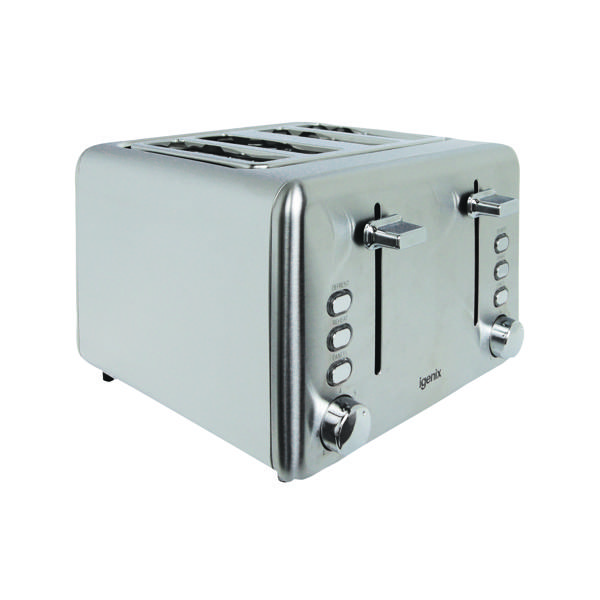 Igenix Toaster 4-Slice (Stainless steel finish with varying heat settings) FCL4001/H
