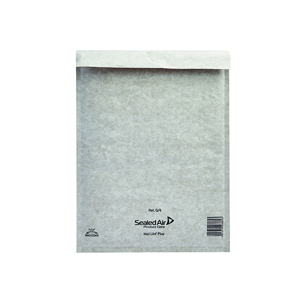 Mail Lite Plus Bubble Lined Postal Bag Size G/4 240x330mm Oyster White (Pack of 50) 103025659