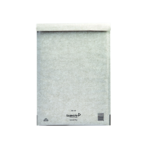 Mail Lite Plus Bubble Lined Size J/6 300x440mm Oyster White Postal Bag (Pack of 50) MLPJ/6