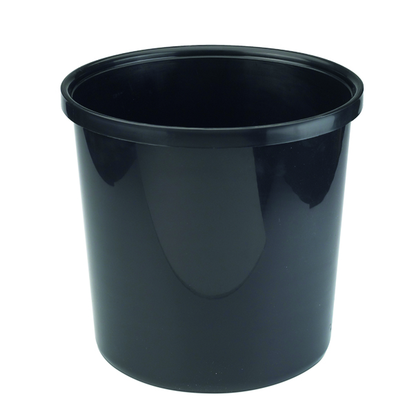 Avery Polypropylene Waste Bin 20 Litre Black 19BLK