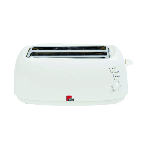 MyCafe White 4 Slice Toaster (Reheat, defrost and cancel buttons) EV3005