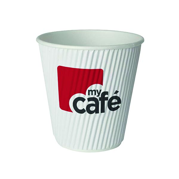Mycafe 12oz Ripple Wall Hot Cups (Pack of 500) HVRWPA12V