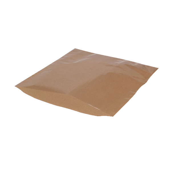 MyCafe Kraft Film Front Bags 250x250mm Brown (Pack of 1000) 303354