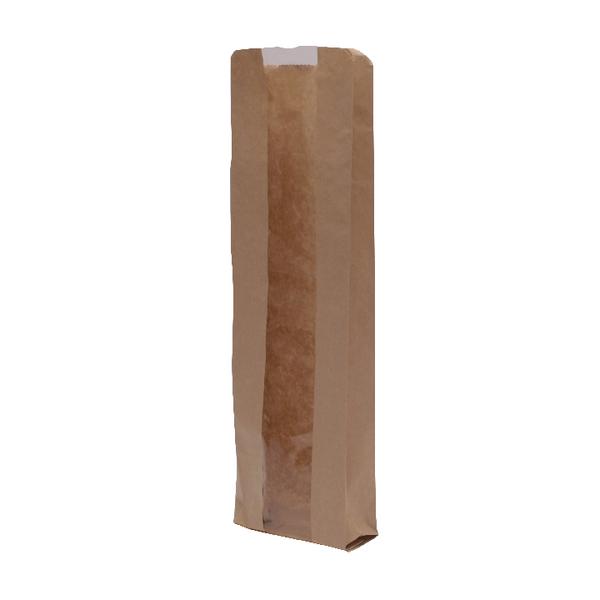 MyCafe Kraft Window Baguette Bags 100x150x355mm Brown (Pack of 1000) 303251