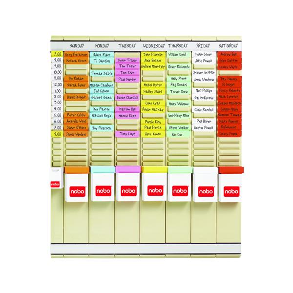 Nobo T-Card 7 Day Planning Kit 29110