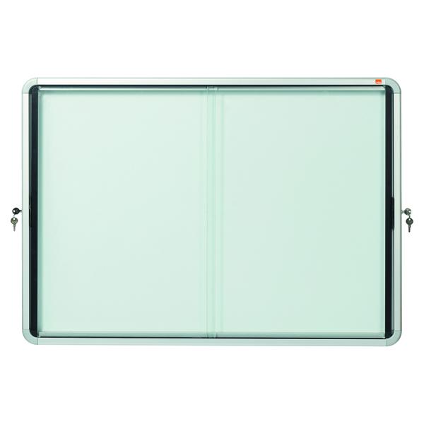 Nobo Internal Glazed Case Magnetic Sliding Door 8 x A4 1902569