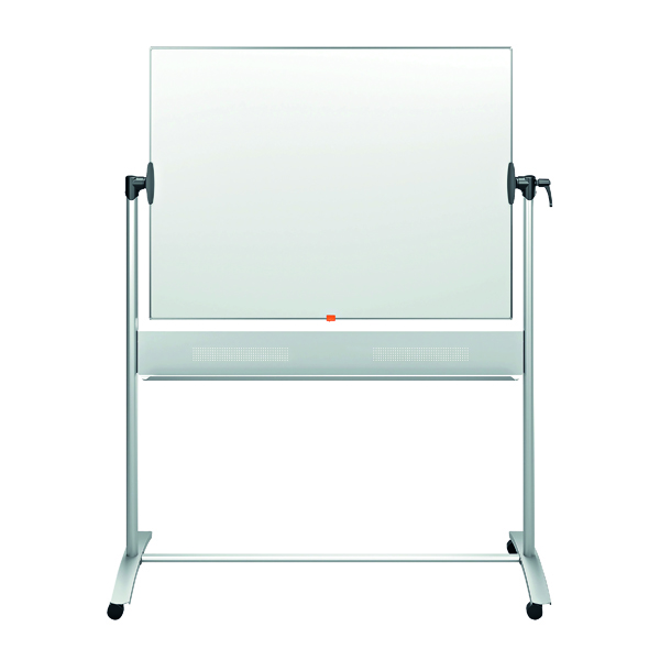 Nobo Mobile Steel Magnetic Horizontal Whiteboard 1200x900mm 1901029