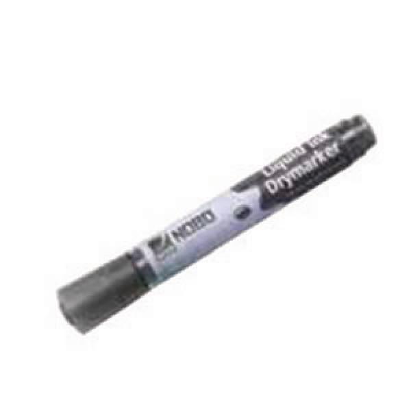 Nobo Liquid Ink Drywipe Marker Black (Pack of 12) 1901073