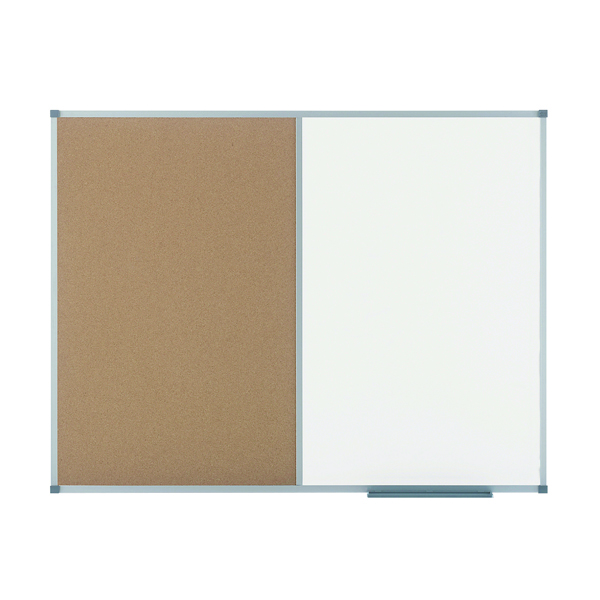 Nobo Elipse Combination Board Magnetic Dry Wipe/Cork 1200x900mm 1901588