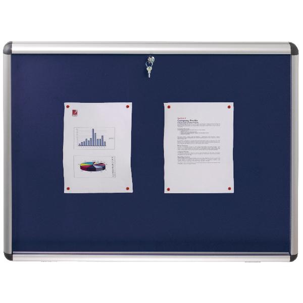 Nobo Internal Display Case A1 Blue Felt 745x1025mm 1902048