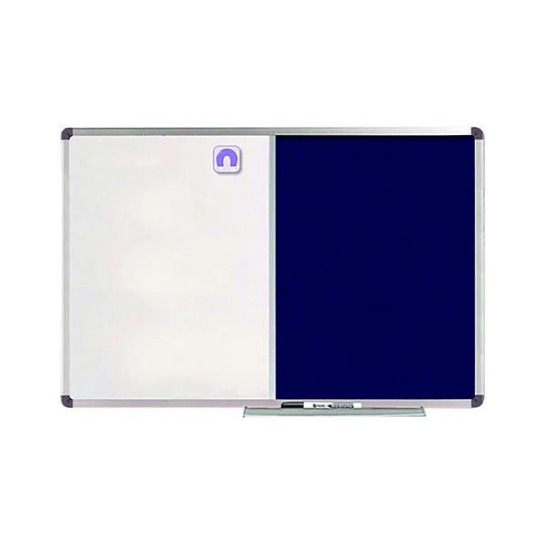 Nobo Classic Combi Blue Felt/Steel Noticeboard 1200x900mm 1902258
