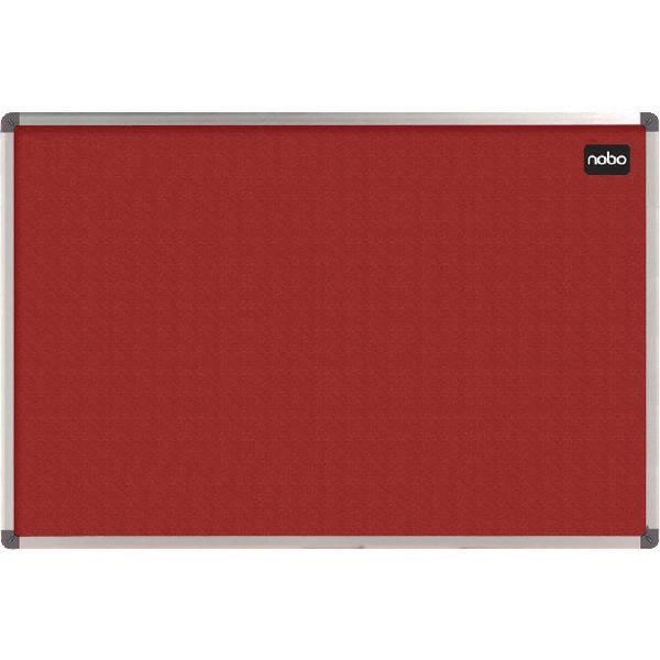 Nobo Classic Red Felt Noticeboard 1200x900mm 1902260