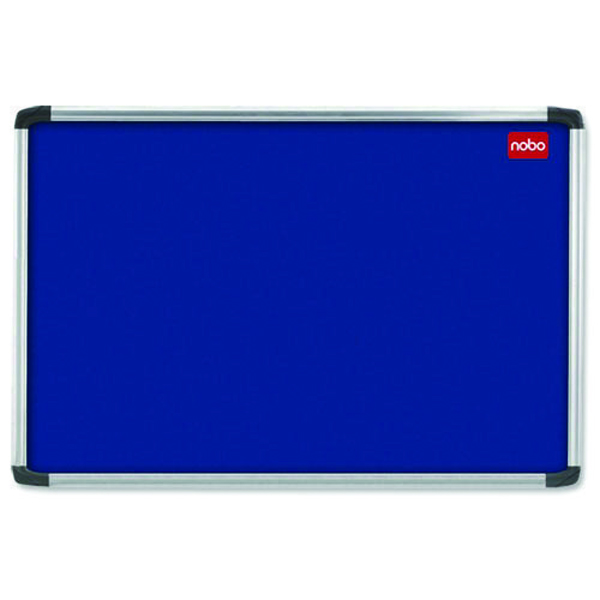 Nobo EuroPlus Blue Noticeboard with Fixings/Frame 1800x1200mm 30230184