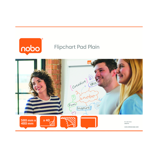 Nobo Feint Ruled Flipchart Pad 584x485mm 40 Sheet (Pack of 5) 34631166