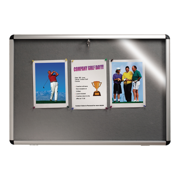 Nobo Internal Display Case A1 Grey Felt 745x1025mm 31333500