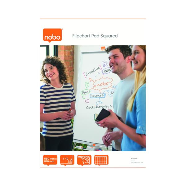 Nobo Squared Flipchart Pad A1 40 Sheet (Pack of 5) 34631166