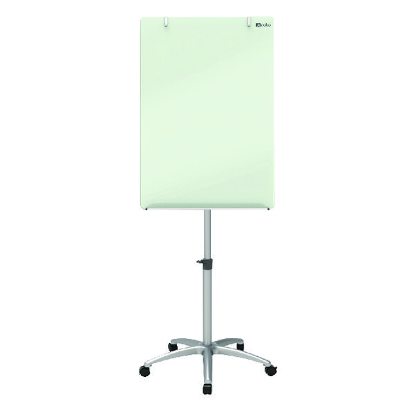 Nobo Glass Mobile Easel (Includes dry erase marker and aluminium pen tray) 1903949