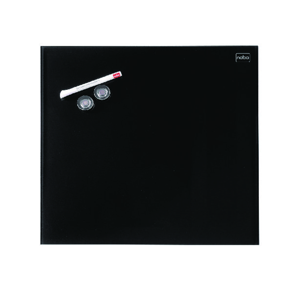 Nobo Diamond Glass Magnetic Whiteboard 300x300mm Black 1903950