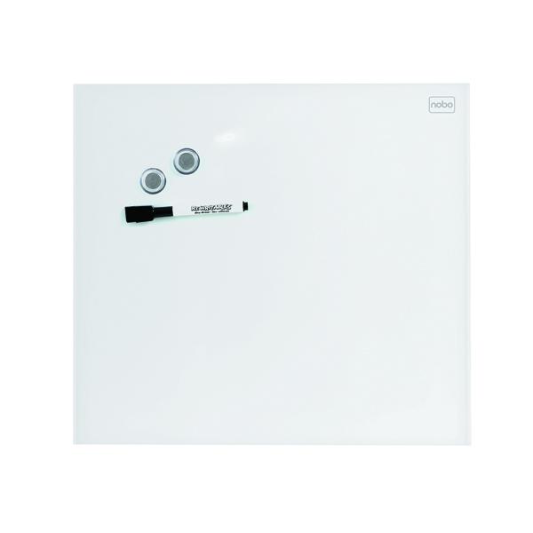 Nobo Diamond Glass Magnetic Whiteboard 300x300mm Green 1903956